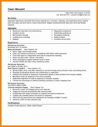 Duties Of A Warehouse Worker For Resume Unique 19 Objective For
