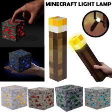 Minecraft Light Up Torch Uk Brand New Minecraft Game Diamond Light Night Up Lamp Light