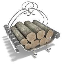 metal fireplace log holder 3d model 1
