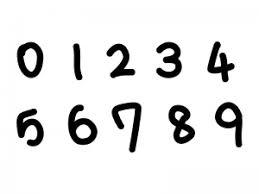 手書きマーカー風の数字イラスト イラスト無料かわいいテンプレート