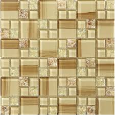 le glass tile hand paint cystal glass resin with shell tile backsplash wall tiles decorative bathroom