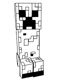 Minecraft Coloring Pages Creeper Coloring Pages For Kids
