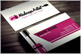 freelance makeup artist business card sles