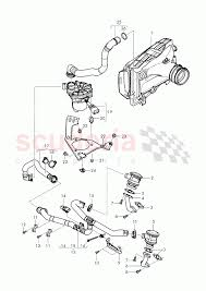 Secondary air pump secondary air control valve pipes and hoses for purge system