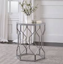 metal accent table. Compact Metal Accent Table