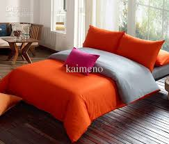 bedding modernorange grey duvet settwinqueen king comforter sets grey and orange bedding