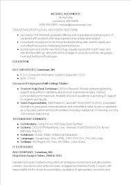 Basic Entry Level Resumes Basic Entry Level It Resume Templates At
