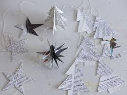 Weihnachtliche Papier Sterne Und Tannen In 3d Aus Alten