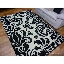 modern rugs swift 200 black white floor rug 160x230cm