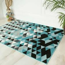 modern geometric rugs teal blue mix grey in house design affordable area rug