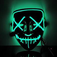 Light Up Mask Amazon Com Logistt Led Purge Mask Halloween Mask Led Mask