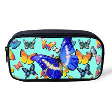 forudesigns rainbow erfly print make up box women makeup case pink rose cosmetic bag forage s