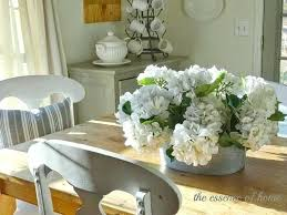 flowers on dining table the essence of home fake hydrangea heads luxury of dining table centerpieces