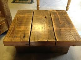 chunky rustic pine coffee table impressive pi on tables co mayfair wooden