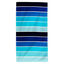 cool beach towels. Printed Cool Rugby Beach Towel Blue - Evergreen® Towels