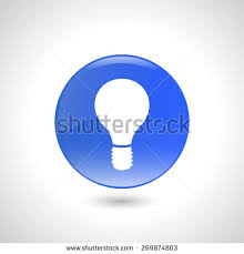 vector square blue icon lighting bulb. blue round button with light bulb icon for web design vector square lighting