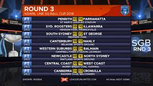 all the results and scorers from the third round of the nswrl sg ball cup under 18 s junior rep competition