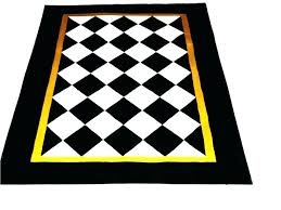 fancy black and white diamond rug zoom runner area rugs r diamond design weather aged finish black white