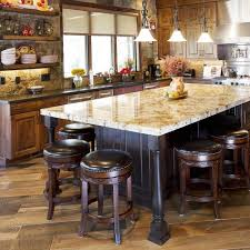 Furniture Awesome Kitchen With Dining Table Height Island Pine