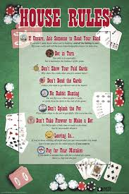 Poker Chart House Rules Poker Chart Game Room Cool Wall Decor Art Print Poster 24x36