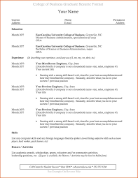 Best Resume Format For Recent College Graduates Resume Format Recent College Graduate Resumeformat