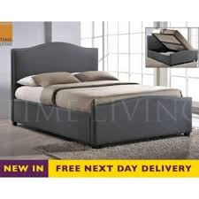 BRU5GREY Brunswick Grey 5ft King Size Storage Bed Beds for sale at cheap prices with Mattress UK SOS