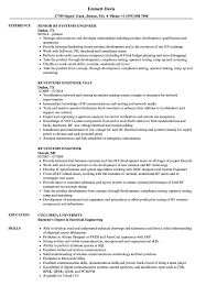System Engineer Resume RF Systems Engineer Resume Samples Velvet Jobs 13