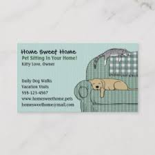 Pet Sitter Business Cards Pet Sitter Business Cards Zazzle