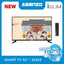 Tivi Asanzo 32 inch 32S53 - Remote giọng nói, Android 8, Youtube, CH Play,  Giá tháng 10/2020