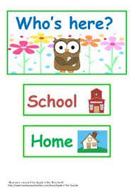 Whos Here Today Chart Attendance Chart Whos Here Attendance Chart Classroom