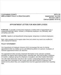 55 Sample Appointment Letters