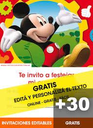 Aplicaciones Para Hacer Invitaciones Gratis 32 Invitaciones De Mickey Mouse Gratis Editables Para