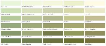 Green Paint Color Chart Lowes Sage Green Color Chart Valspar Lowes American