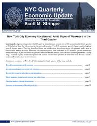 comptroller stringer city economy accelerated in third quarter new york city economy accelerated amid signs of weakness in the third quarter