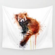 red panda wall tapestry on red panda wall art with red panda canvas print by marianvoicu society6