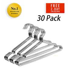 Hanger Wire Gauge Chart New Yikalu Clothes Hangers 30 Pack Stainless Steel Metal Heavy Duty Wire Ultra Ebay