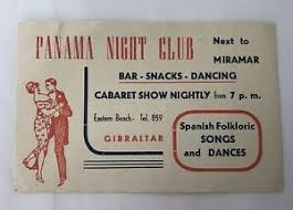 Details About Rare Vintage Panama Night Club Gibraltar Promotional Ticket Flyer