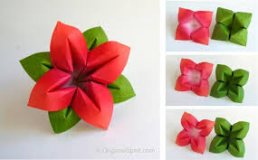Paper Origami Flower Making How To Make An Origami Flower And Leaves Nice And Versatile
