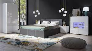 Schlafzimmer Komplett Set 5 Tlg Labri Grau Weiss Hochglanz Kaufen