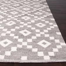 flat weave geometric pattern grey ivory wool area rug within rugs idea 7