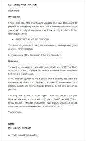 Hr Warning Letter Template Disciplinary Letter Under Fontanacountryinn Com