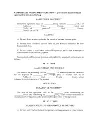 Partnership Agreement Between Companies 037 Business Partnership Agreement Template Templates