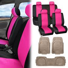 pink car seat covers pu leather beige black heavy duty mats for car suv van