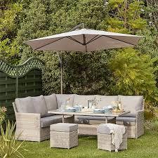 florence garden corner sofa set homebase