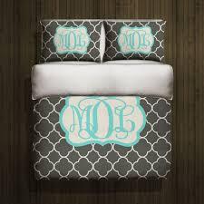 monogram comforter sets custom bedding special monogrammed all 4