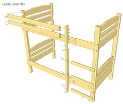 Bunk bed plans except will use 4x4 post