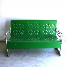outdoor gliders for sale. Sleek Furniture Classic Spring Green Vintage Glider Metal Bench By Outdoor Iron Gliders For Sale