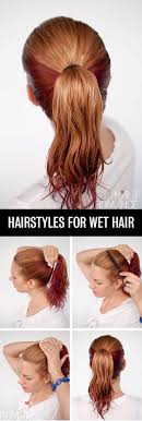 How Todo Hair Style get ready fast with 7 easy hairstyle tutorials for wet hair hair 5666 by wearticles.com