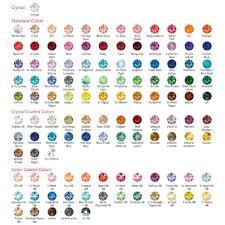 Swarovski Ab Color Chart Swarovski Crystal Samples