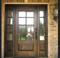 exterior wood doors with glass panels front wooden set all